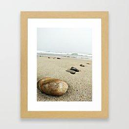 Pebbles on the Beach No.1 Framed Art Print