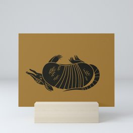 Dead Armadillo Mini Art Print