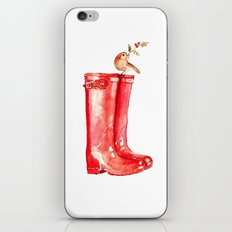 Red Christmas Boot iPhone & iPod Skin