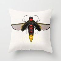 firefly Throw Pillows featuring Firefly by Conrad
