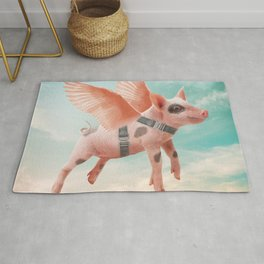 Little Pig can Fly Rug