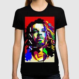 Michael Hutchence Pop Art WPAP T-shirt