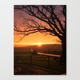Silver-Lining Sunset Canvas Print