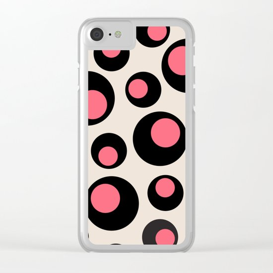 CIRCLES 22 Clear iPhone Case