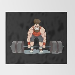 Weightlifting | Fitness Workout Throw Blanket