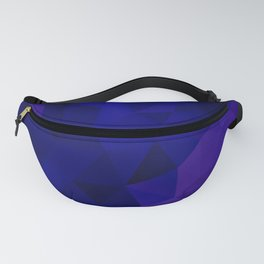 Purple blue polygonal background Fanny Pack