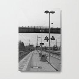 Station Rosenheim, black and white photo Metal Print