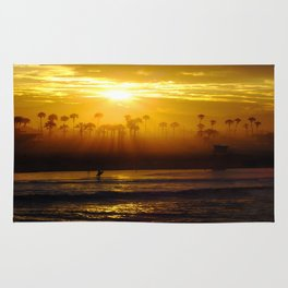 Misty Sunrise * Huntington Beach, California Rug