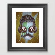 Dude (green) Framed Art Print