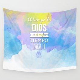 El Tiempo de Dios  Wall Tapestry