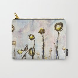 Bird Sings the Sunflower Blues Carry-All Pouch