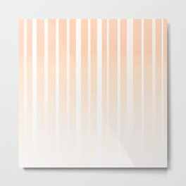 Dissolving Stripes Pattern in Soft Light Peach Metal Print