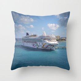 Norwegian Pearl - Ocho Rios Throw Pillow