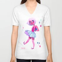 bubblegum V-neck T-shirts featuring Bubblegum by Anoosha Syed