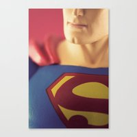 man of steel Canvas Prints featuring Man Of Steel  by Fanboy30
