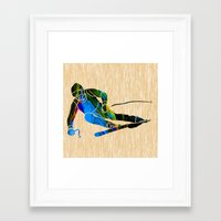 skiing Framed Art Prints featuring Skiing by marvinblaine