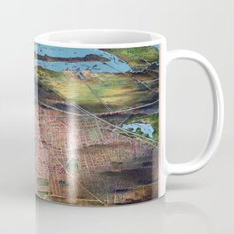 NEWHARK NEW JERSEY city old map Father Day art print poster Coffee Mug