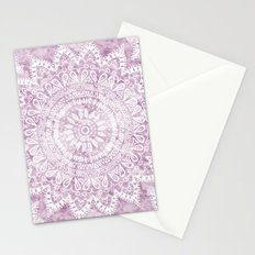 BOHEMIAN FLOWER MANDALA IN PINK Stationery Cards
