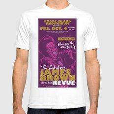 James Brown White MEDIUM Mens Fitted Tee