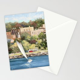 Sails Up In Petoskey Stationery Cards