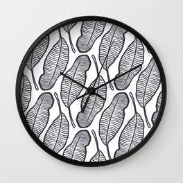 hand drawing Banana Leaf pattern Wall Clock