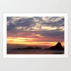 Tofino Pink Sunset Art Print