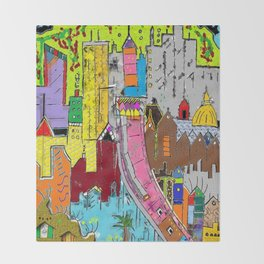Vision Medellin Colombia Throw Blanket