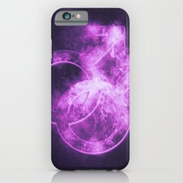 Male homosexuality symbol. Gay glyph. Doubled male sign. Abstract night sky background iPhone Case