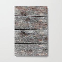 Wood grain II Portrait Metal Print