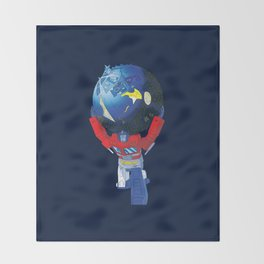 Optimus Atlas Throw Blanket