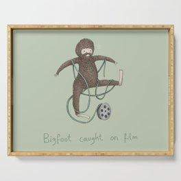 Bigfoot Caught on Film Serving Tray