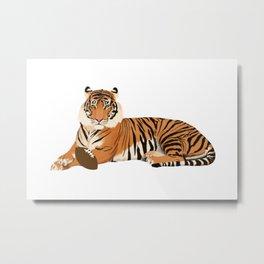 Football Tiger Metal Print