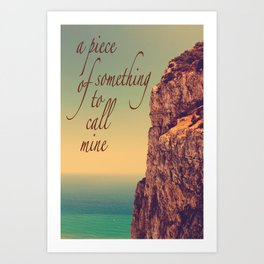 A Piece Of Something... Art Print