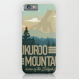 Kukuroo Mountain Illustration iPhone Case