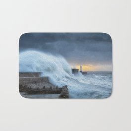 Hurricane Brian with oil painting effect Bath Mat