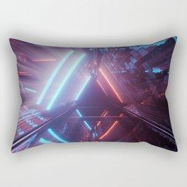 Futuristic Lights Rectangular Pillow