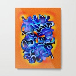 Jamurina V3 - digital abstract Metal Print