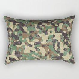 Distressed Army Camo Rectangular Pillow