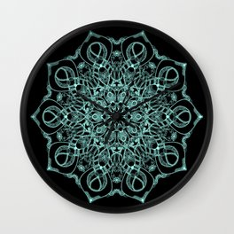Mandala Project 235 | Seafoam Green Wall Clock