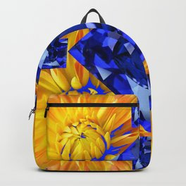 BLUE SAPPHIRES GEM ART & GOLDEN MUMS Backpack