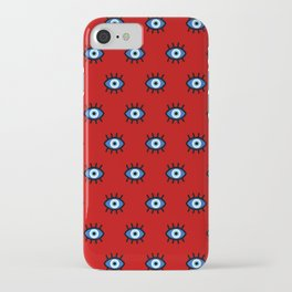 Evil Eye on Red iPhone Case