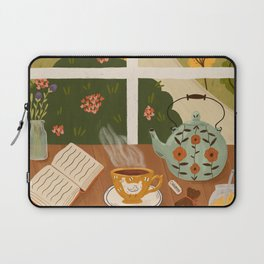 Tea Time by the Window Laptop Sleeve