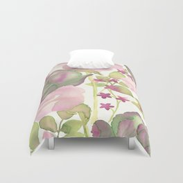 Autumn Bouquet - Kale & Rose Duvet Cover