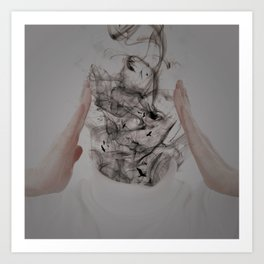 Smokehead Art Print