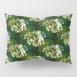 Hills-of-snow hydrangea pattern Pillow Sham