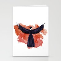 cyrilliart Stationery Cards featuring Mockingjay by Cyrilliart