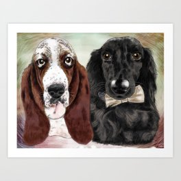 Lola and Tobin Art Print