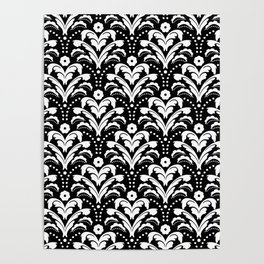 Art Deco Damask Classic Poster
