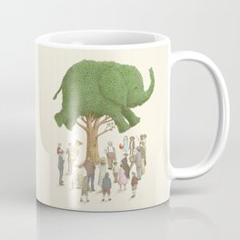 The Night Gardener - Elephant Topiary  Coffee Mug