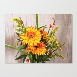 orange daisies buquet Canvas Print